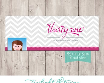 Thirty-one Chevron Facebook Cover Photo Image - ( Consultant, Thirty One, 31 )