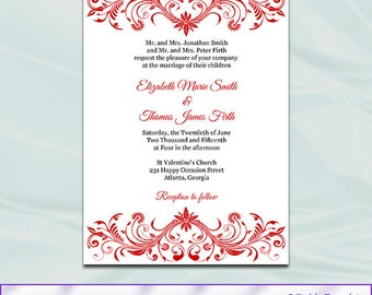 Royal Blue Wedding Invitation Template Diy Printable Blue