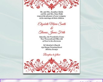view wedding invitationsweddingprintablesdiy on etsy, wedding cards