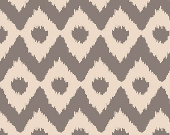 Sand Grey Ikat Fabric-Camelot Fabric-Modern Rustic Fabric-Native American Fabric-Ikat Quilt Fabric-Tribal Fabric-Grey Ikat Quilting Fabric