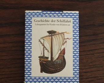 Vintage Happy Families cardgame history of navigation shipping GDR