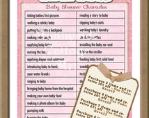 baby charades shower game printable baby shower game pink charades