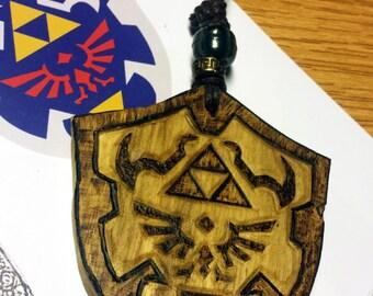 Wooden Hylian shield keyring (The Legend of Zelda)