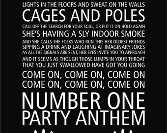 Arctic Monkeys Number One Party Anthem Lyrics Poster
