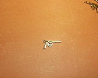 Tibetan Silver  gun charm pendant  10 pcs 24x12 mm