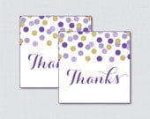 Printable Purple and Gold...