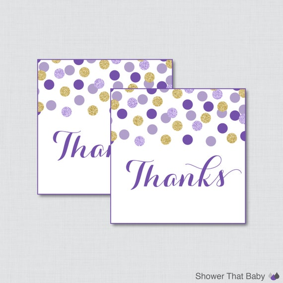 purple and gold baby shower favor tags thank you tag in purple