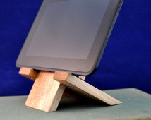 Reclaimed Wood iPad Stand Reclaimed Wood iPad Mini Stand Reclaimed Wood Kindle Stand Upcycled Wood Tablet Stand Handmade iPad Stand Charging