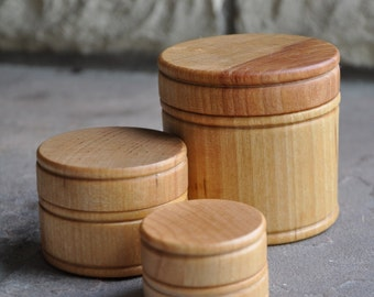 Wooden Stacking and Nesting Canisters - A Waldorf and Montessori Inspired Toy
