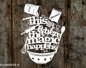 Papercut Template PDF 'This is Where the Magic Happens' Cut Your Own Papercut by Samantha's Papercuts