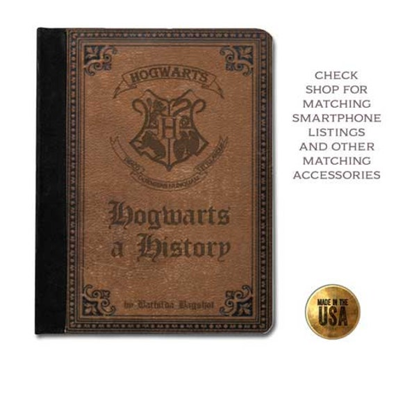 Harry Potter Book Kindle Case : Witches school history vintage book cover handbook protective