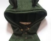 Blythe Green Cloak With Ear Hat