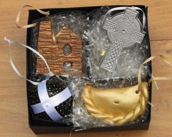 Boxed set of Cornish Christmas Tree Decorations