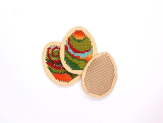 Diy pendant easter egg beginner embroidery kit modern