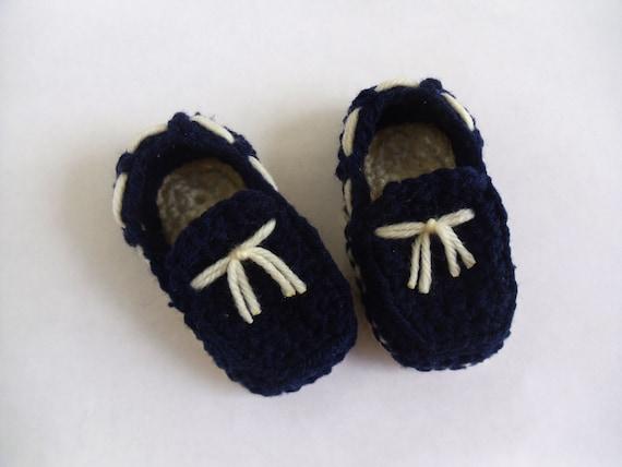 Azul navy / marino zapatos mocasines clásicos por KaelestisCrochet