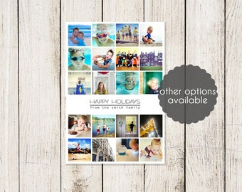 Instagram / Snapshot Holiday Cards  5 X 7 (Digital File or Printed Cards)