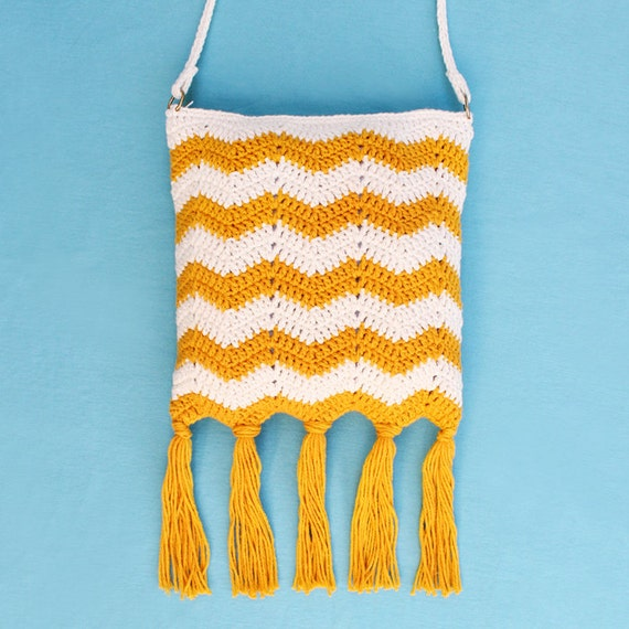Crochet Fringe Bag : Crochet Pattern Rip Tide Fringe Bag PDF by GleefulThingsCrochet