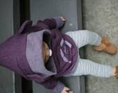 Baby sweatshirt, Plum Hoodie, Print Hoodie