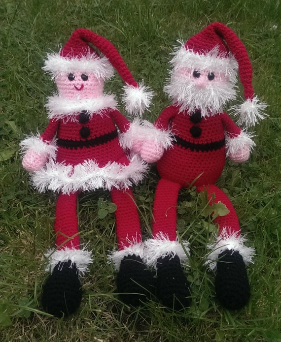 Crochet Pattern Our Father : Crochet Pattern Mother and Father Christmas PDF with