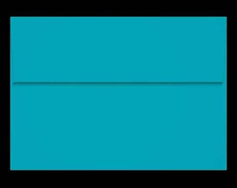 25 A7 Envelopes SEA BLUE Green Teal for 5x7 DIY Blanks - Cards Invitations Announcements Parties with Square Style Flap Good Quality