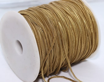 20 Meters Raw Brass Flat Snake Chains (1,6mm) - Cable Chain- Foxtail Chains , rbb, THE12