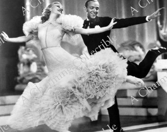 GINGER ROGERS and Fred Astaire Wall Hanging Wall Art, Photo Print Hollywood Photo Print, Art Print Photograph Wall Art,""