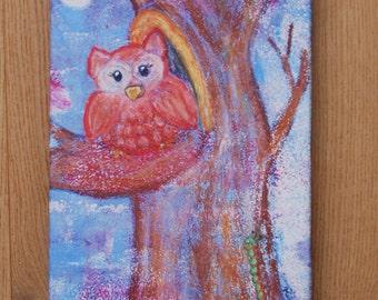 Canvas print: OWL on tree