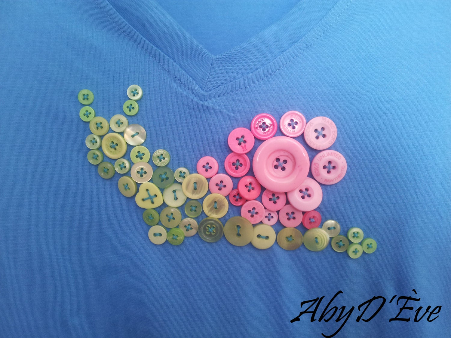 Snail  Snail T Shirt, Hipster Shirt, Button Art Snail, Button Art Shirt