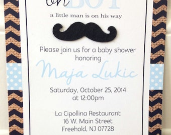 Little Man Baby Shower Invite