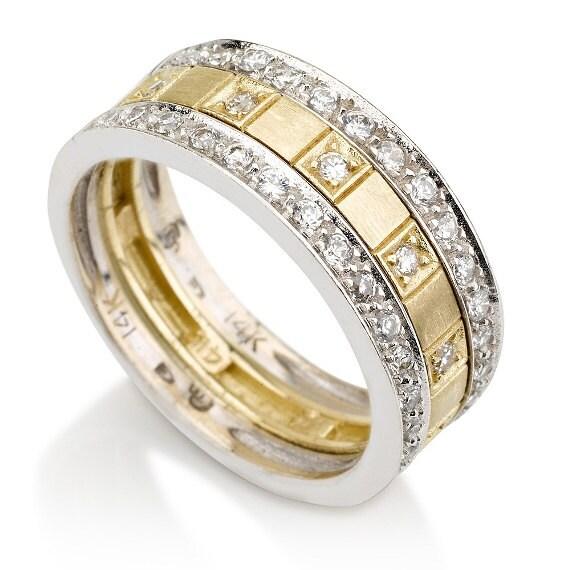 Wedding Band White Amp Yellow Rings Diamond RingEngagement