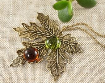 Necklace Maple Leaf no.12 (#5396)