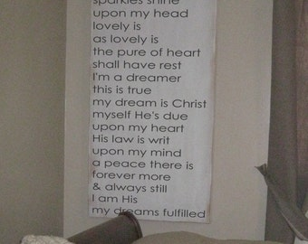 24X48 Dreamers Dream -wood art sign - original poem by Salted Words * Christian gift * christian decor *