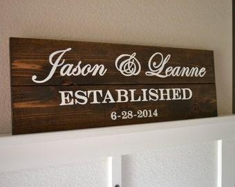 Family Established Sign || Established Name Sign || Wood Sign || Name Sign ||Wedding Sign || Wedding Gift || Rustic Wedding || Last Name