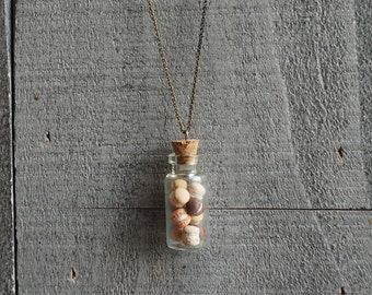 Macarons Glass Bottle Necklace