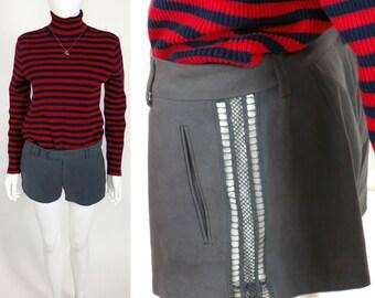 90s Catherine Malandrino guipure lace tuxedo boy shorts