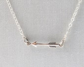 Sterling Arrow Necklace • Delicate • Layering Necklace • Arrow • Minimal • Tiny • Sterling Silver • Dainty Silver Necklace • Simple