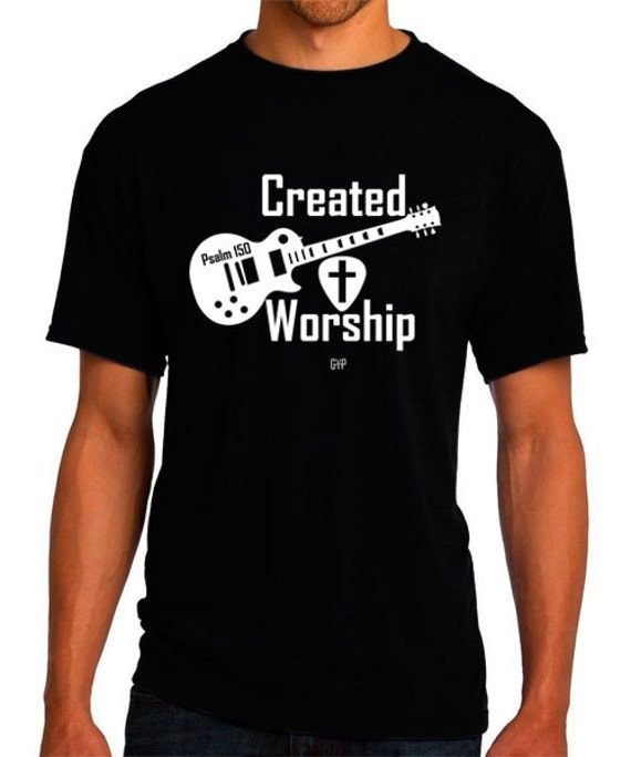 Created To Worship Guitar Christian T Shirt Christian