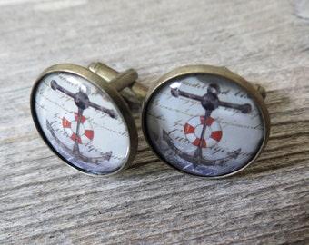 Men's Cufflinks - Nautical Cufflinks For Men - Men's Jewelry - Men's Accessories - Gift For Men's - Groomsman Gift