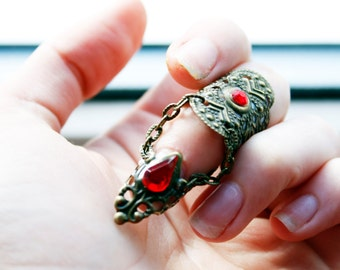 Vampire Armour - Blood Lust Ring - Adjustable Claw