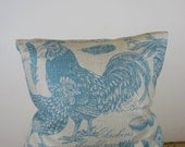 French Farmhouse Natural French Linen Cushion Cover by Peacock and Penny. 50cms x 50cms Beautiful French Provincial Style.