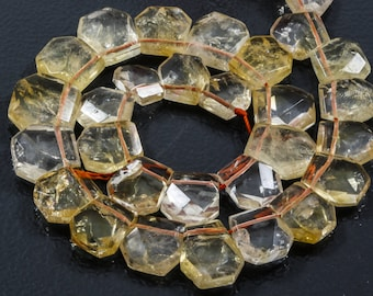 CITRINE Nugget 16x18mm faceted beads.