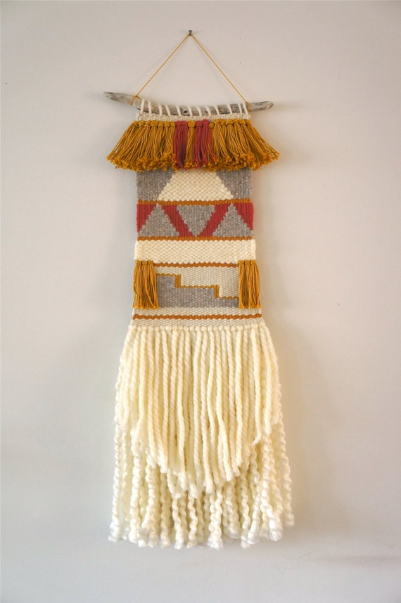 Woven Wall Hanging Tapestry Weaving Feliz
