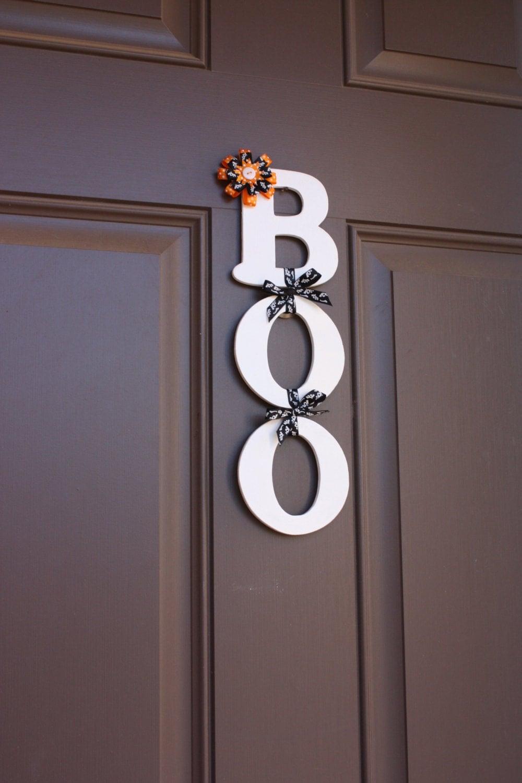 Decorating Ideas > Halloween Door Decor BOO Sign Halloween Wall By  ~ 141416_Halloween Door Hanging Decorations