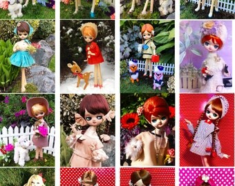 High Quality Photo Greeting Cards Featuring images of our vintage Pose Doll Collection (Bradley, Holiday Fair, Anime, Mod, 1960's. Retro)