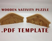 Instant Download: Printable Nativity Manger Scene Puzzle Template / Pattern PDF