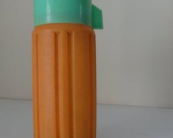 SALE - 45% OFF - Vintage Thermos -  orange & mint 1970's - vacuum flask