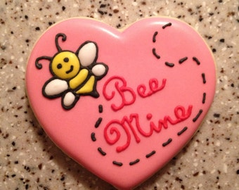 Bee Mine Valentine Cookies