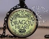 Dragon Necklace or Dragon Keychain, Dragon Heart Apothecary, Apothecary Necklace, Steampunk Necklace, Halloween Jewelry Halloween Apothecary