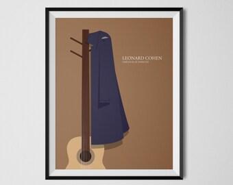 Leonard Cohen Poster 18x24