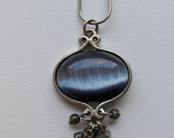Vintage Victorian Pendant Goth Gothic Necklace